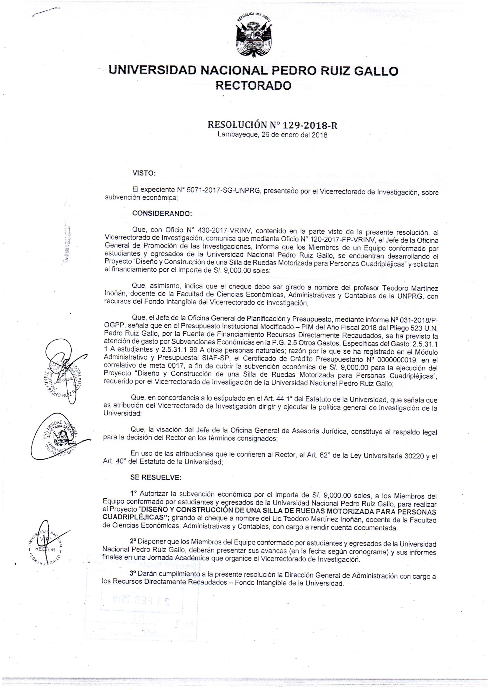 Documentos Universidad Nacional Pedro Ruiz Gallo Unprg